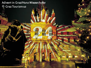 The Advent Calendar on Graz City Hall