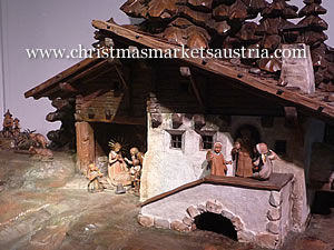 A Christmas crib on display in Innsbruck