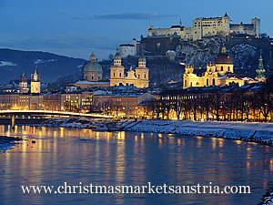 View of Salzburg Castle in Winter